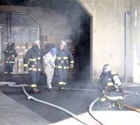 【訓練】嶺北消防本部が大規模工場火災想定し対応確認