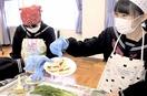 へしこ料理に中学生が挑戦