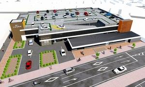 芦原温泉駅西口の立体駐車場が起工