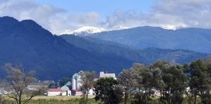 白山が初冠雪