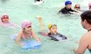 県の指導者招き泳ぎ楽しく学ぶ 勝山・成器西小