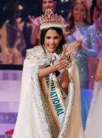 2018年のミス・インターナショナル世界大会で優勝したベネズエラ代表のマリエム・クラレット・ベラスコ・ガルシアさん=9日午後、東京都内