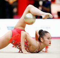 世界新体操、喜田がボールで5位