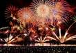 空と海彩る敦賀花火、19万人沸く