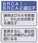 卵巣がん患者約15%に変異 日本人のBRCA遺…
