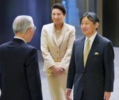 特別展「両陛下と文化交流―日本美を伝える」の会場に到着された皇太子ご夫妻=24日午後、東京・上野の東京国立博物館(代表撮影)