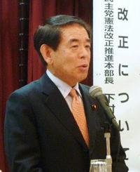 下村氏、憲法審幹事を辞退
