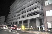 福井市役所で深夜に煙、「揚げかすが原因」 冷まそうとざるにため余熱で発煙