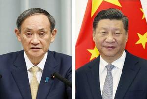 菅義偉首相、中国の習近平国家主席