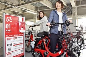 シェアサイクルで敦賀観光を