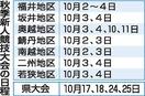 福井県中学新人競技大会予定通り実施