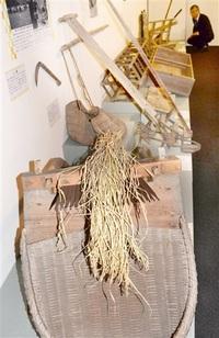 昭和前期の生活紹介 小浜・若狭歴博 農具など展示