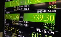 東証、午前終値2万1554円