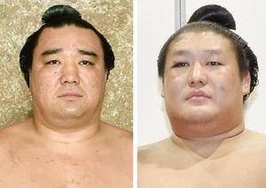 日馬富士関(左)、貴ノ岩関