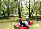 全米注目の日本の庭園に庭カフェ