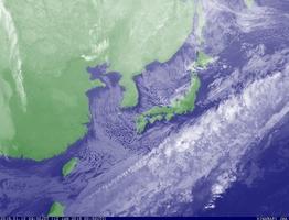 12日午前9時50分の雲画像(気象庁ホームページより)