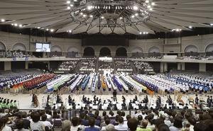 2019年7月に行われた全国高校総体の総合開会式=鹿児島アリーナ