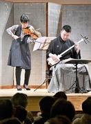 勝山で伝統音楽と現代音楽の調べ