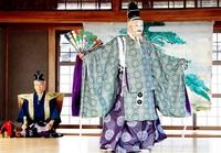 風鎮め、豊作祈る能 若狭町・宇波西神社 伝統の舞 厳かに奉納