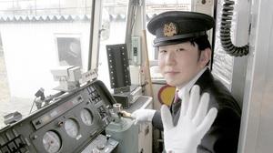 福井鉄道の運転士、清水大輔さん