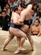鶴竜2敗守る、朝乃山と首位