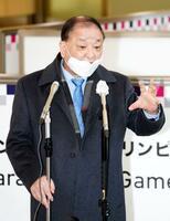 成田空港に到着し、記者会見する韓国の姜昌一・新駐日大使=22日午後