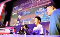 大画面の熱戦 熱狂 14チームが野球対決 福井でeスポーツ大会