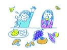 春はあけぼの、秋は… 食べ物 いろいろ食べて …