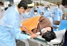 コロナ禍の震災、赤十字病院で訓練
