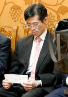 日ロ首脳会談のため外務省ロシア課長としてモスクワを訪問した際の毛利忠敦氏=5月26日、モスクワ(共同)