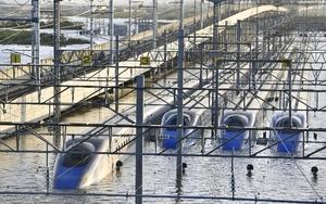 水没した長野新幹線車両センター
