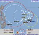 台風28号カンムリ、予想進路は