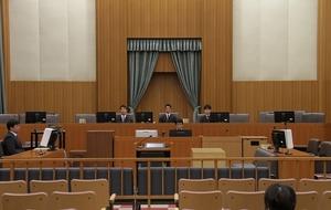 島津博文被告の判決公判があった1号法廷=28日、福井地裁(代表撮影)