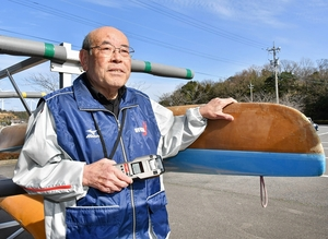 「正確なジャッジをしたい」と東京五輪への意気込みを話す前田博司理事長=1月25日、福井県あわら市の北潟湖