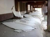 強風で法隆寺重文しっくいに被害