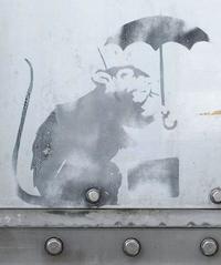 バンクシー酷似の絵、常時公開へ