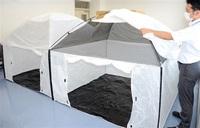 避難所にテント導入 コロナ対策、災害時の密接防止 永平寺町
