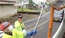 カーブミラーを交通指導員ら清掃 鯖江で100カ所