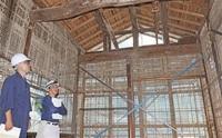 大安禅寺特別公開 1658年創建 国重文 修理中の本堂など 29日 建物「履歴」も解説