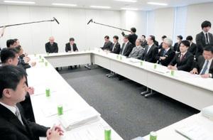 北陸新幹線の京都-新大阪ルートについて南回りと正式決定した与党PT=15日、衆院議員会館