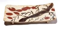 辰砂竹雀俎鉢 もてなしの心を形に 美の巨人_福井市美術館 魯山人展から(2)