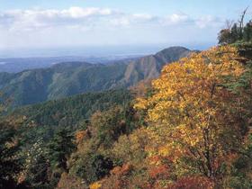 山頂からは日本海、白山連峰が一望できる