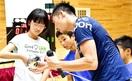 越前市 見延、佐藤選手 フェンシング世界の技指南…