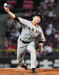 巨人の菅野がプロ野球記録に並ぶ