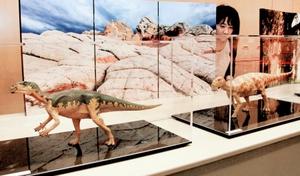 精巧に作られた恐竜フィギュア=15日、福井県立恐竜博物館