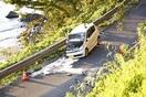 衝突 軽の男女死傷 敦賀・国8 大型トラックと