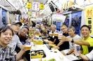 電車内でビール、ほろよいビア電