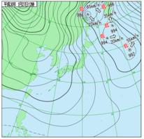 27日正午の天気図=気象庁のホームページより