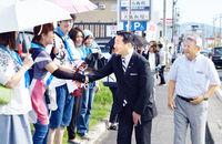 立憲民主幹事長が越前市議候補応援