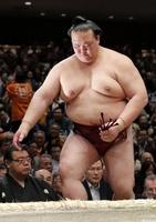 引退することが決まった大相撲の横綱稀勢の里=1月15日、両国国技館